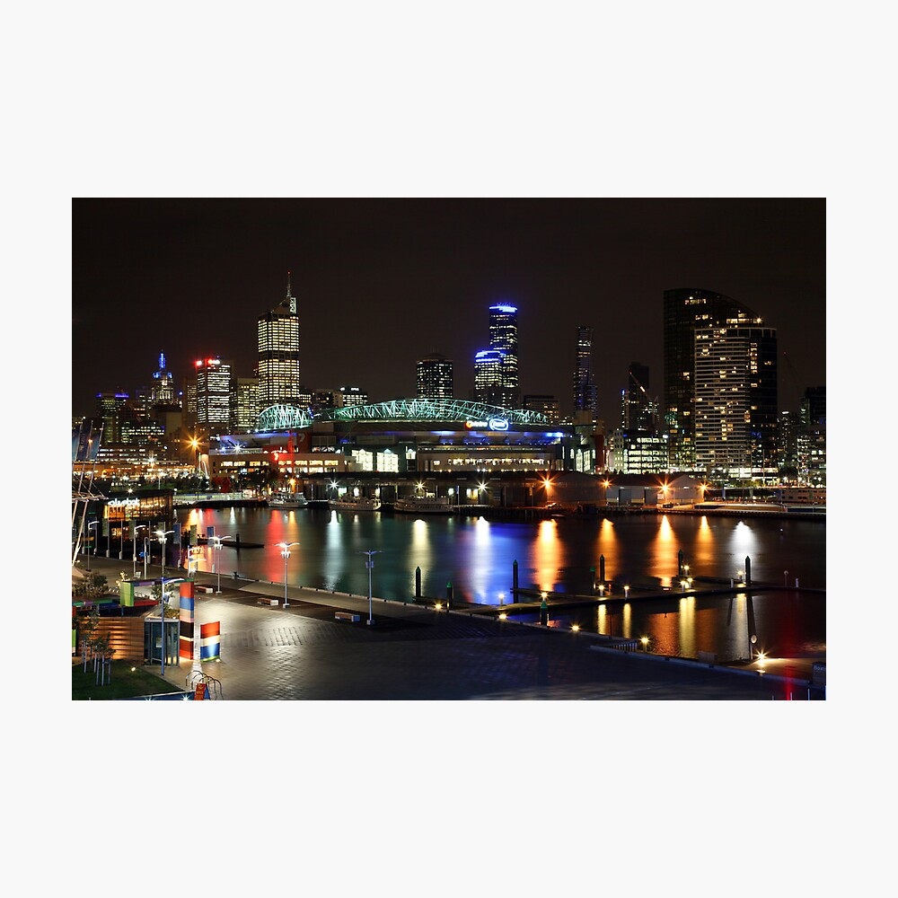 Docklands By Night, Melbourne, Australia Photographic Print