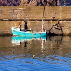 A Lonely Boat at St Abbs Harbour, Scotland by Christine Smith