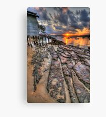 Sunset On The Rocks - Paradise Beach,Sydney - The HDR Experience Canvas Print