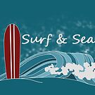 Surf and Sea by ErikaWasner