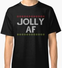 Jolly AF Funny Christmas T-Shirt Classic T-Shirt