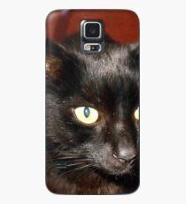 Oscar - Black Cat Portrait Hülle & Klebefolie für Samsung Galaxy