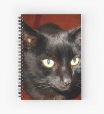 Oscar - Black Cat Portrait Spiralblock