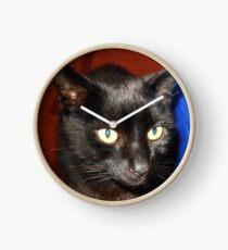 Oscar - Black Cat Portrait Uhr