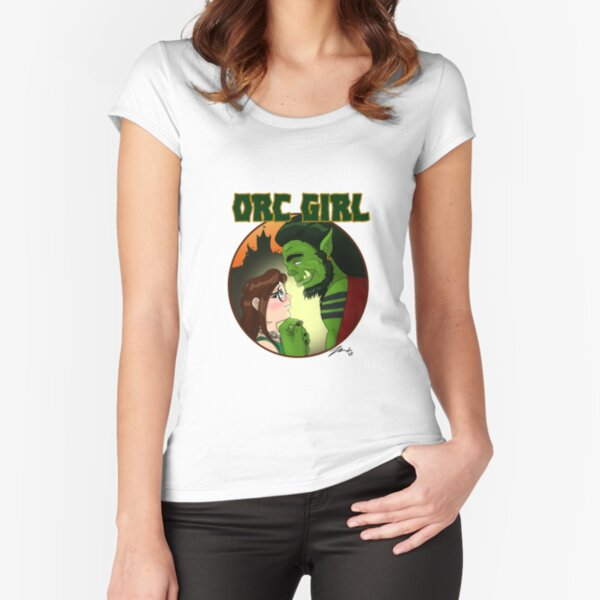 Orc Girl Fitted Scoop T-Shirt