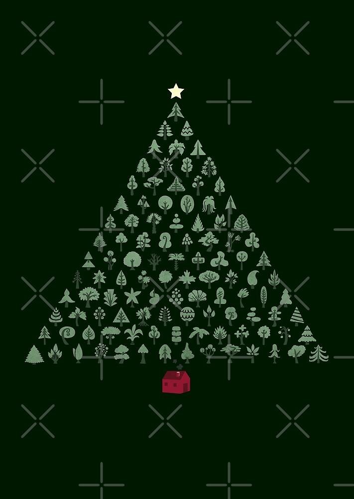 Weihnachtsbaum (dunkle Version) von littleclyde