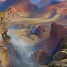 Grand Canyon Cougar and Deer by Walter Colvin