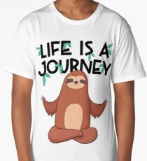 Life Is A Journey Sloth Long T-Shirt