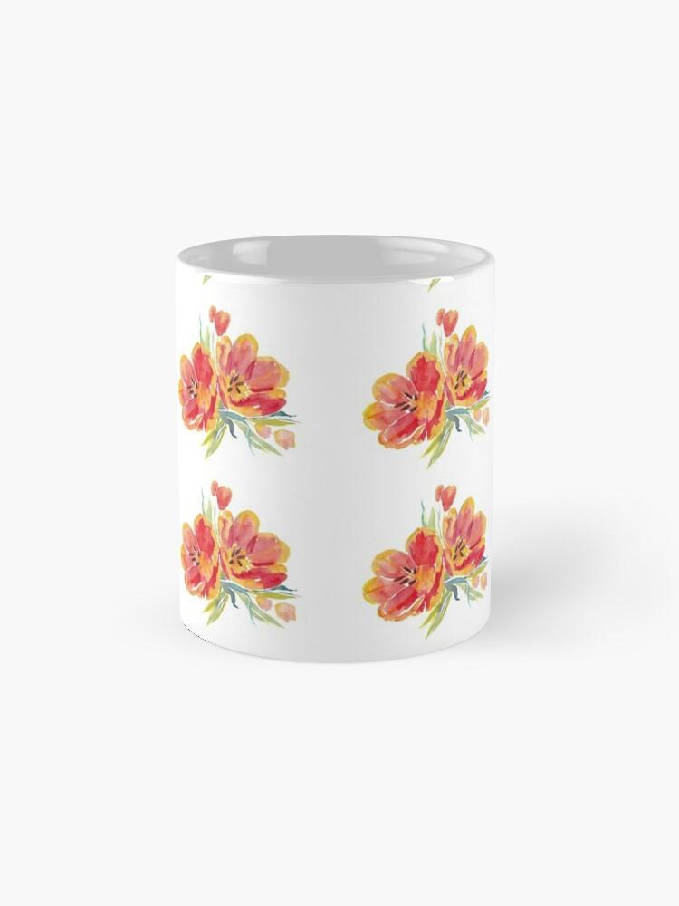 Alternate view of Tulips in watercolour Mug