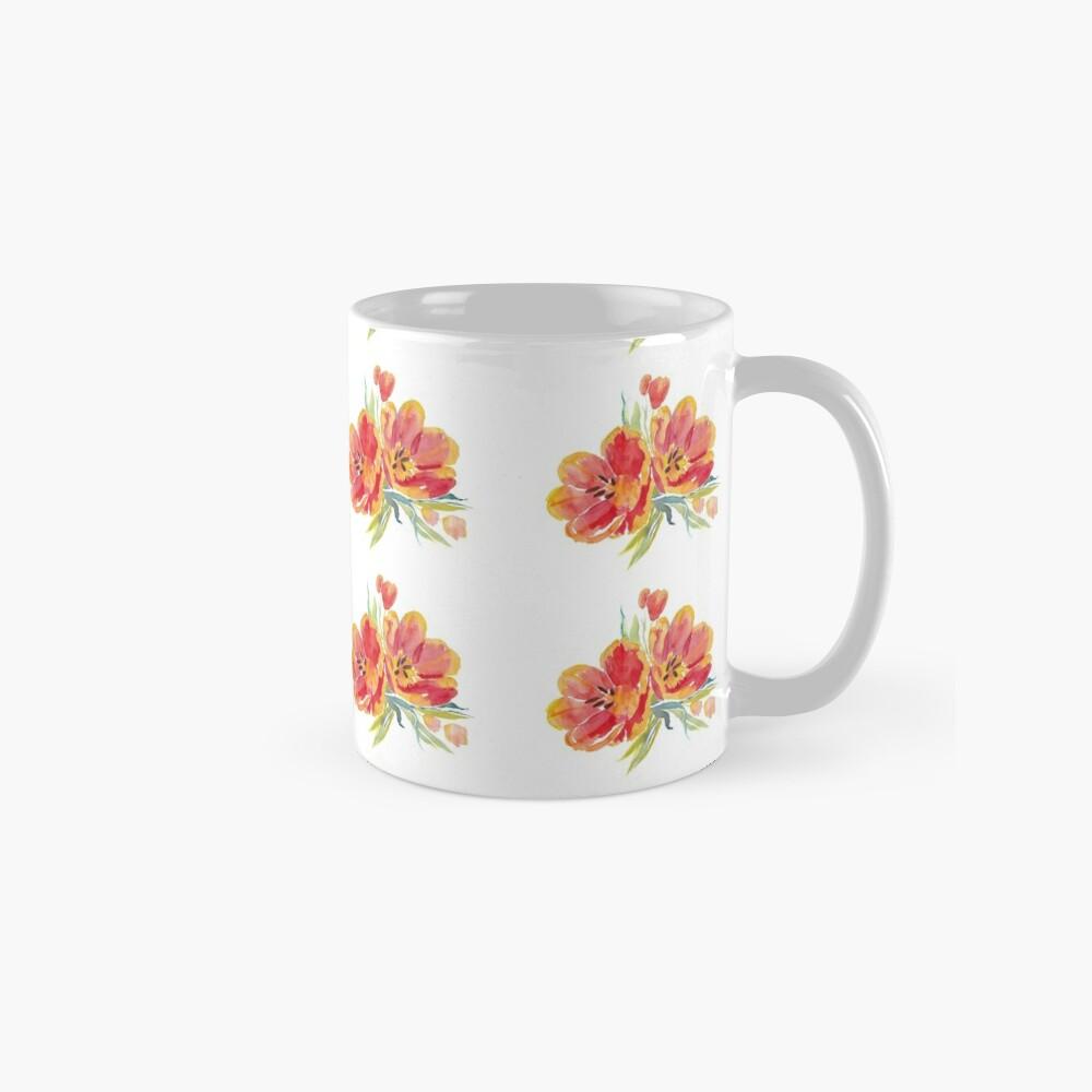 Tulips in watercolour Mug