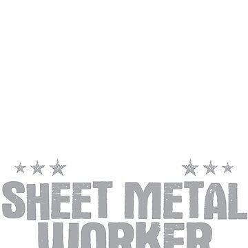 Sheet Metal Worker Death Smiles Gift Present by Krautshirts
