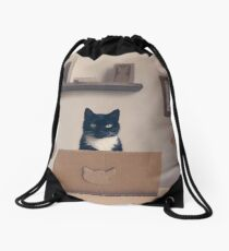Eco Friendly Corporate Cat Drawstring Bag
