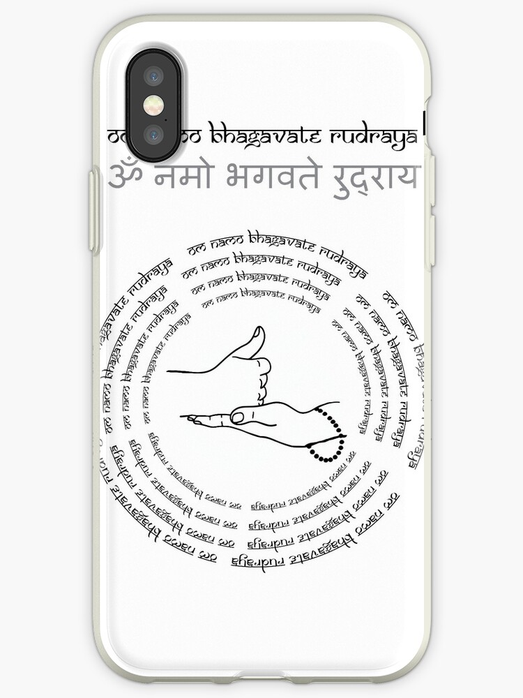 ' shiva linga mudra and Lord Shiva mantra Om Namo Bhagavate Rudraya vol  2'  iPhone Case by KARTICK DUTTA