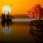Sunset at the bay by ketut suwitra
