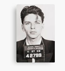 Sinatra mugshot Canvas Print