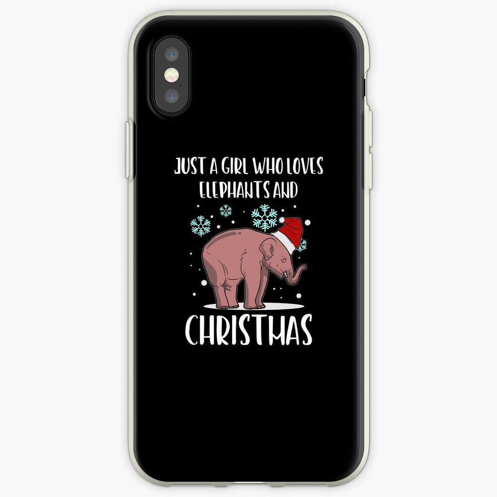 Weihnachtselefant-Weihnachtsmannmütze-Schnee-Geschenk iPhone-Hülle & Cover
