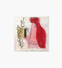 woman profile and branch Art Board
