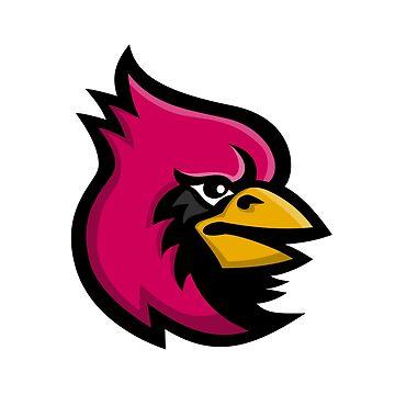 Cardinal Bird Head Mascot by patrimonio