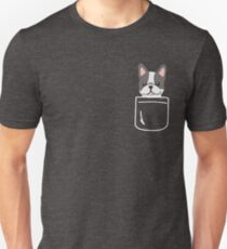 Cute French Bulldog In Your Pocket Frenchie Puppy Lover Gift Unisex T-Shirt