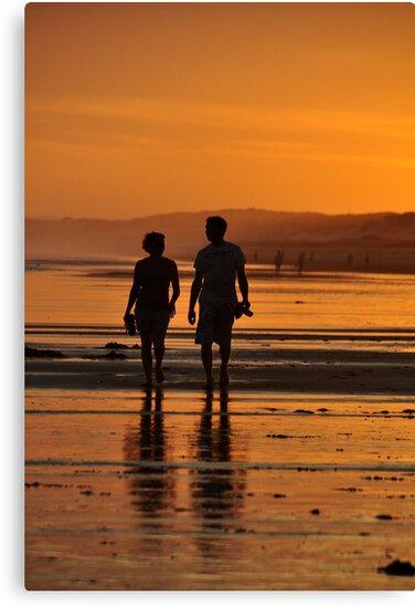 Come Walk With Me - Redhead Beach NSW by Bev Woodman