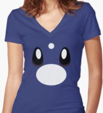 Pokemon - Dratini / Miniryu Women's Fitted V-Neck T-Shirt