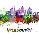 Vancouver V2-Skyline in Aquarell spritzt von paulrommer