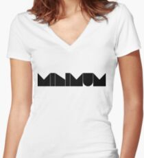 minimum. Women's Fitted V-Neck T-Shirt
