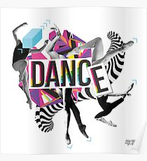 DANCE - A graphic tribute to BALLET -  Poster