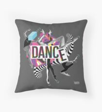 DANCE - A graphic tribute to BALLET -  Throw Pillow
