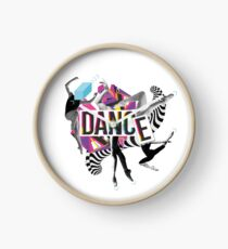 DANCE - A graphic tribute to BALLET -  Clock