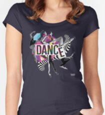DANCE - A graphic tribute to BALLET -  Women's Fitted Scoop T-Shirt