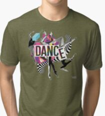DANCE - A graphic tribute to BALLET -  Tri-blend T-Shirt