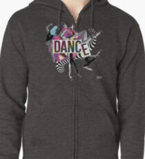 DANCE - A graphic tribute to BALLET -  Zipped Hoodie