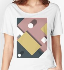 Color Blocks Shadow Women's Relaxed Fit T-Shirt