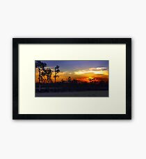 Waterhole sunset HDR Framed Print