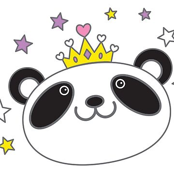 panda queen royalty with stars by jazzydevil