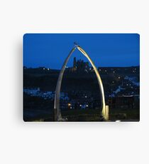 Whitby Abbey through Whalebones Canvas Print