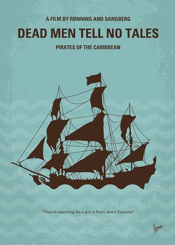 No494-5 Meine Piraten der Karibik V minimales Filmplakat von ChungKong Art