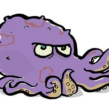 the grumpy octopus by greendeer