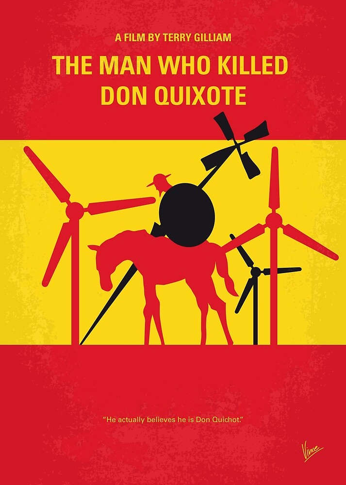 No1008 Mein der Mann, der Don Quixote minimales Filmplakat getötet hat von ChungKong Art