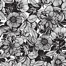 Hellebore lineart florals by camcreativedk