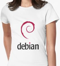 debian operating system logo Women's Fitted T-Shirt