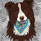 Tropical Brown Border Collie Boy by artlovepassion