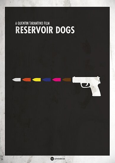Reservoir Dogs Minimales Filmplakat von quimmirabet