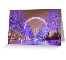 London Christmas Eye Greeting Card
