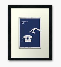 ET Minimal movie Poster Framed Print