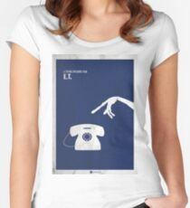 ET Minimal movie Poster Fitted Scoop T-Shirt