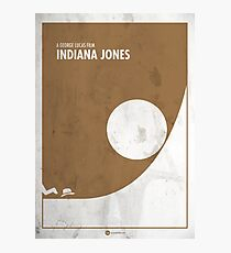 Indiana Jones Minimal movie Poster Photographic Print