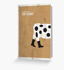 Top Secret Minimal Film Poster Greeting Card