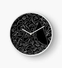 Rennstrecken zum Skalieren (invertiert) Uhr